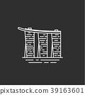 Singapore landmark. Illustations in outline style 39163601