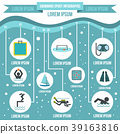 Swimming sport infographic elements, flat style 39163816