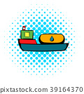 Oil tanker icon, comics style 39164370