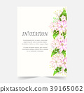 Invitation card Wedding card with flora background 39165062