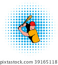 Baseball player icon, comics style 39165118