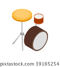Drum kit icon, isometric 3d style 39165254