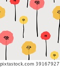 Pattern With Pastel Flower Background. 39167927