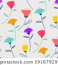 Pattern With Pastel Flower Background. 39167929
