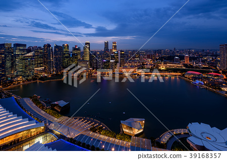 新加坡·濱海灣夜景 39168357