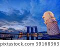 小艇停靠灣 新加坡 夜景 39168363