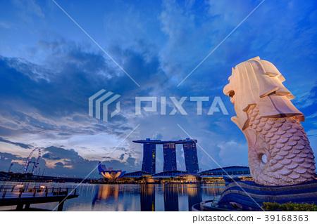 新加坡魚尾獅公園HDR圖像 39168363