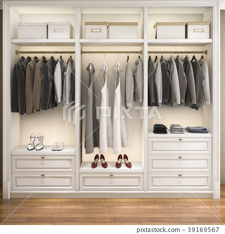 modern wardrobe nice tone wood walk in closet 39169567