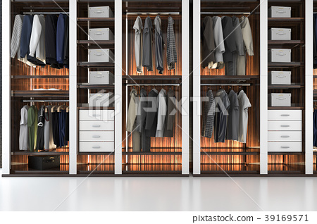 modern wardrobe nice tone wood walk in closet 39169571