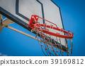 broken basketball hoop - hangig basketball ring  39169812