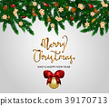 Merry Christmas and Happy New Year Concept 39170713