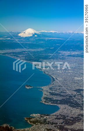湘南海岸和富士山鳥瞰圖 39170966