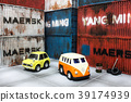 Model cars with containers in the background 39174939