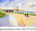 Golden gate bridge in San Francisco, USA. 39175319