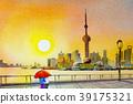 Beautiful shanghai, in China. 39175321