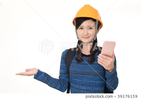 A woman with a smartphone 39176159