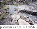 Stiff lava stream on side of Sakurajima in Japan 39176563