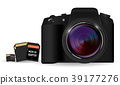 DSLR camera with SD and Micro SD card memory 39177276