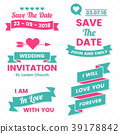 Wedding Retro Vintage Vector Label for banner 39178842