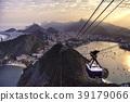 Sugarloaf Cable Car at sunset 39179066