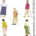 senior, cane, walking sticks 39181661