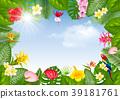 Summer tropical frame design 39181761