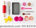 Baking tools on white 39182039