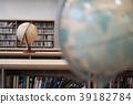 Inhomogeneous world globes, unconventional bookstore-like wooden headboards 39182784