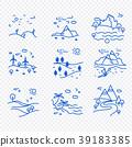 Set of natural landscapes icons 39183385