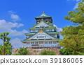 신록의 오사카 성 39186065