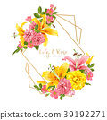 vector, floral, wedding 39192271