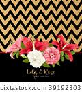 vector, floral, wedding 39192303