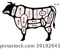 เนื้อวัว,พื้นหลังสีขาว,วัว 39192643