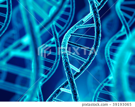 DNA molecule spiral. 3d illustration 39193065