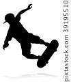 Skater Skateboarder Silhouette 39195510