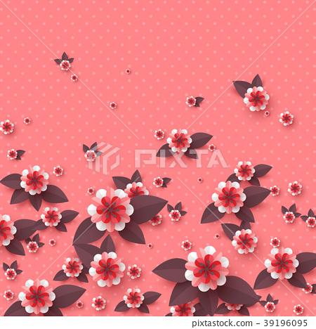 Paper cut decorative flowers. 39196095