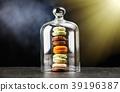 Assortment of macaron cookies 39196387