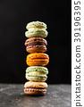 Assortment of macaron cookies 39196395