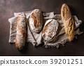 Variety of Artisan bread 39201251