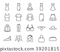 Women clothes icon set 39201815