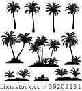 Palm Trees and Plants Silhouettes 39202131