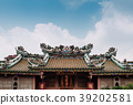 Chinese temple roof decoration with dragon Bangkok 39202581