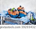 blueberry cake cupcake 39203432