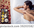 Asian lady relax with masage and spa in resort 39203582