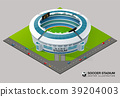 football soccer field stadium isometric vector 39204003
