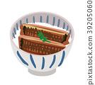 矢量 鳝鱼 一碗鳗鱼饭 39205060