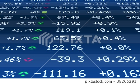 Quote change data on realtime stock market ticker 39205293