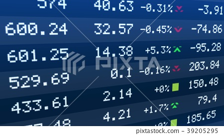 Stock exchange indices rise and drop on ticker 39205295