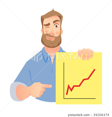 man holding graphs 39206374
