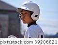 男孩棒球擊球手 39206821